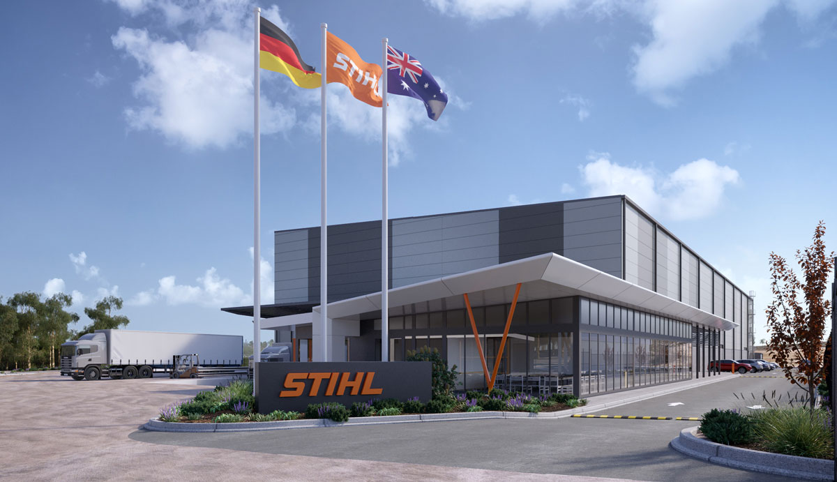 EXPANSION SPACE: An artist's impression of STIHL's new distribution centre that will open next year in the Empire Industrial Estate at Yatala.